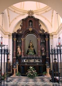 Capilla del Rosario, hoy de los Dolores, en la Iglesia de la Concepción
