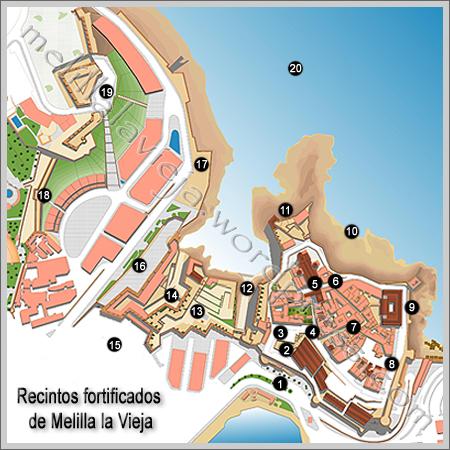 Plano de Melilla la Vieja