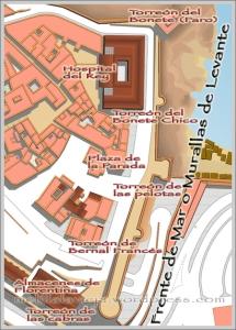 Situación Murallas de Levante