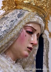 Detalle de la Virgen de las lágrimas