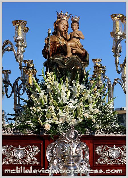 Frontal del trono de la Virgen de la Victoria y el niño