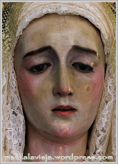 Primer plano de la Virgen de los Dolores