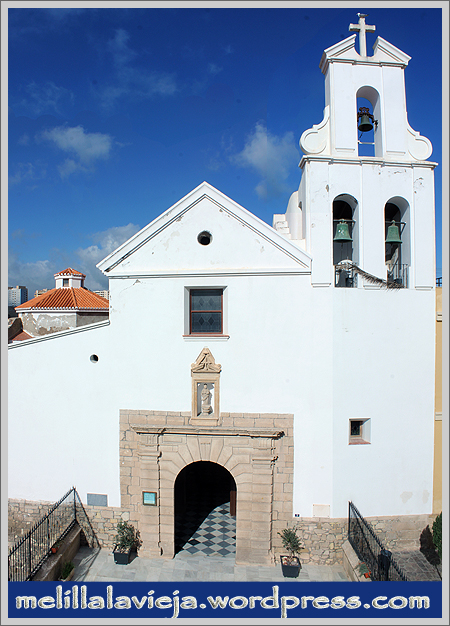 Fachada de la Iglesia de la Concepción en Melilla La Vieja