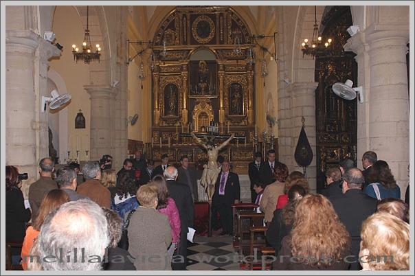 Vía Crucis del Cristo del Socorro interior de la Iglesia