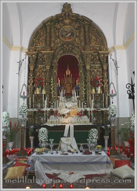Monumento en la Capilla del Sagrario en Jueves Santo