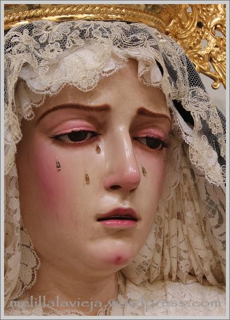 Virgen de los Dolores de las Lágrimas de la Iglesia de la Concepción en Melilla la Vieja